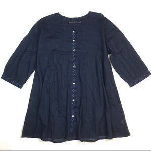 Gudrun Sjoden embroidered peasant blouse tunic